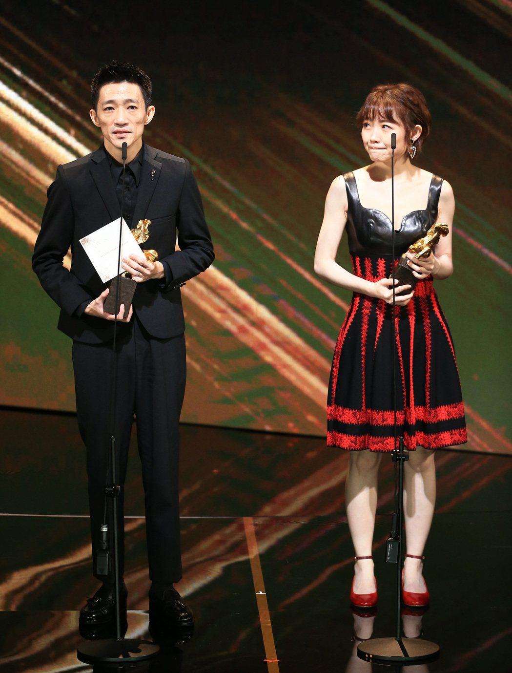 第56屆金馬獎頒獎典禮,「返校」獲頒最佳改編劇本獎。記者林伯東/攝影
