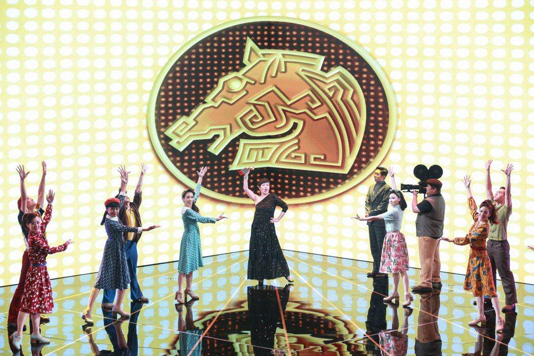 第56屆金馬獎頒獎典禮,瘋戲樂工作室演出開場表演「有一陣人,追求一個夢」。記者林