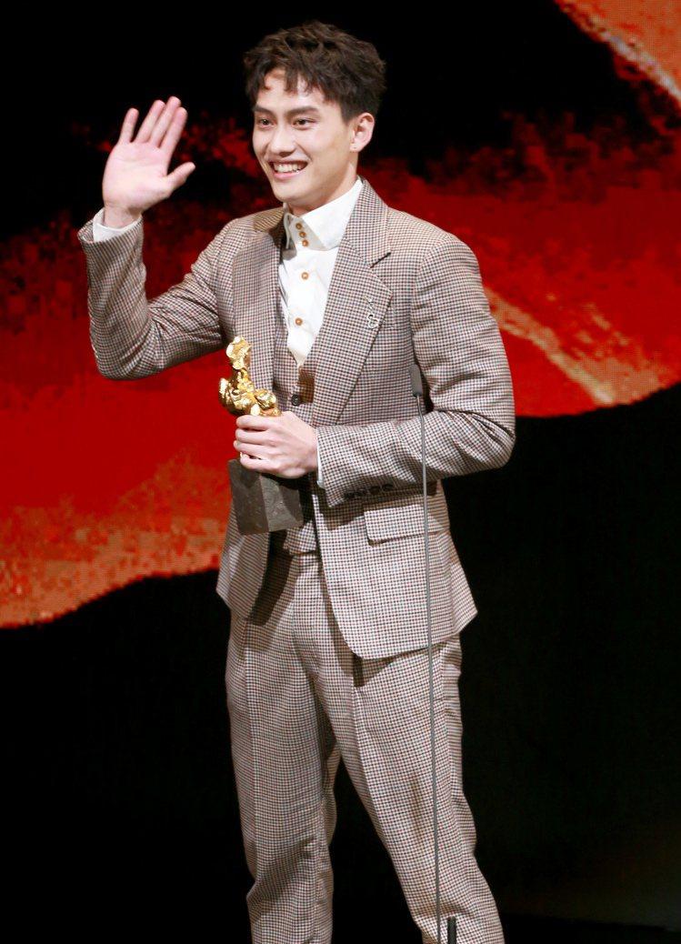 第56屆金馬獎頒獎典禮,范少勳以下半場獲得最佳新演員獎。記者林伯東/攝影 余承翰