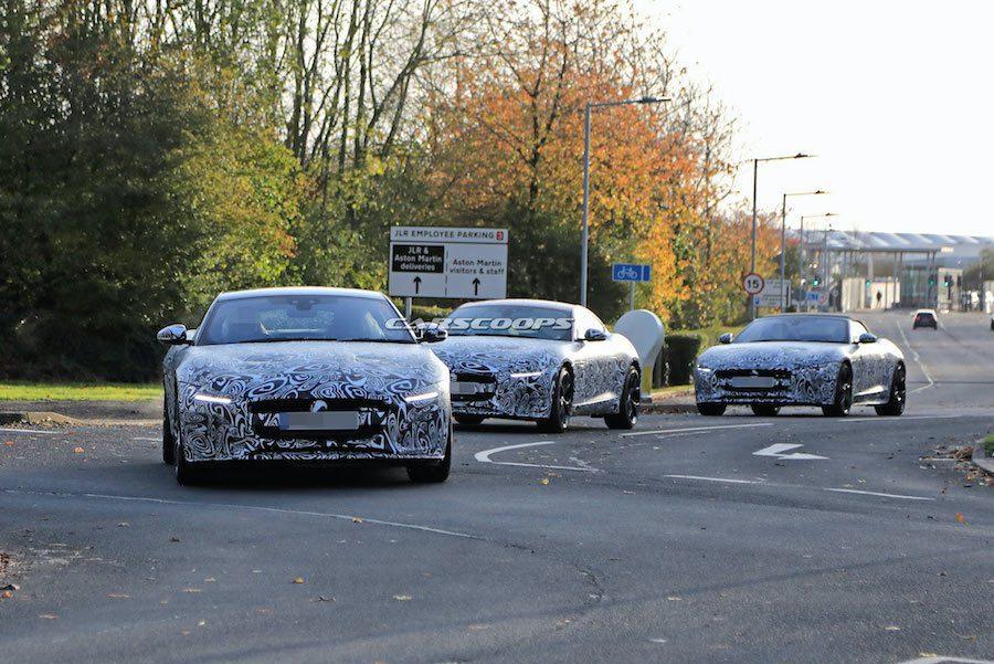 一群花豹跑出來!Jaguar F-Type小改款測試車現蹤