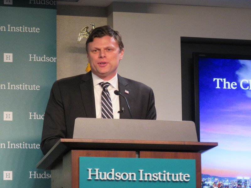 「國家利益中心」戰略與貿易資深研究員惠頓。華盛頓記者張加/攝影