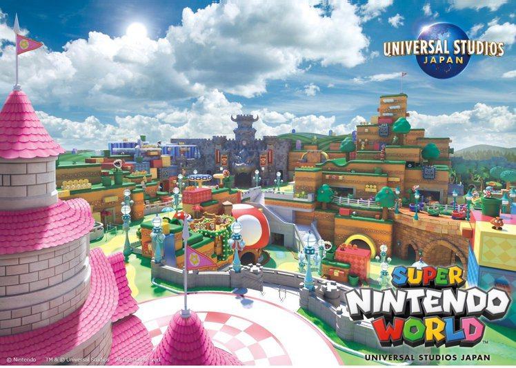 日本環球影城最新的「超級任天堂世界」主題園區,預將於2020年登場。圖/擷取自ユ...