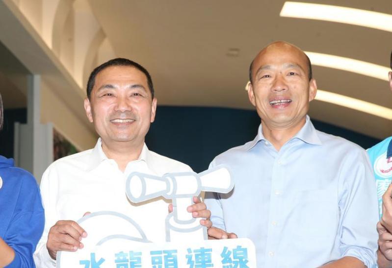 侯友宜可能在選戰最後關頭,藉由12月8日的「全國黨代表誓師大會」正式出面挺韓韓國瑜。 本報資料照片