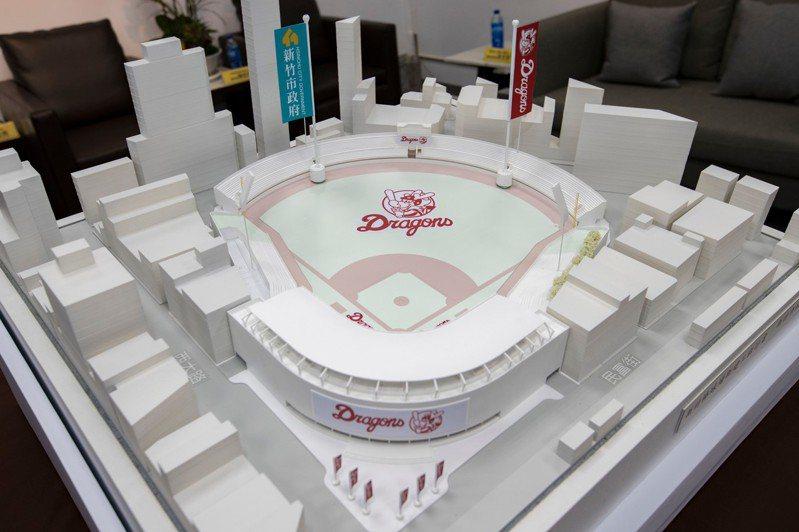 新竹講活動期間在風livehouse展出新竹棒球場等重大建設模型。圖/市府提供