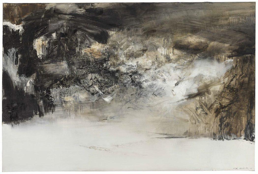 法國華裔畫家趙無極的油畫《27.3.70》,是本次貝聿銘夫婦收藏中尺寸最大的作品...