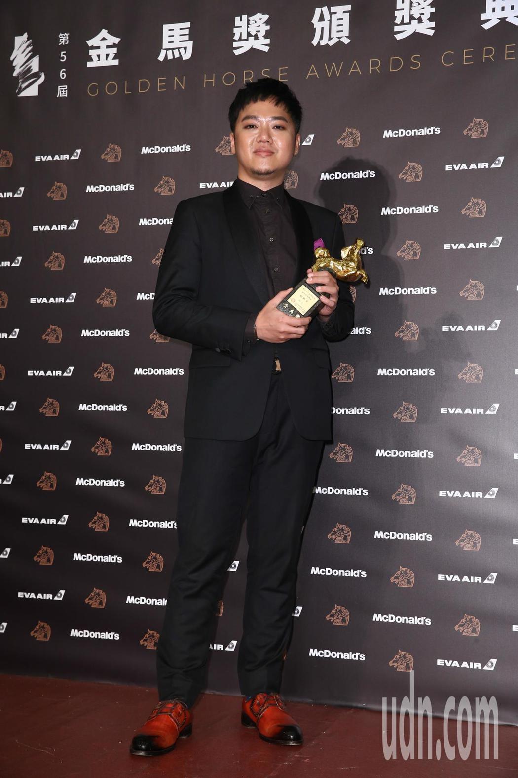 第56屆金馬獎頒獎典禮,「幻土」楊修華獲最佳原著劇本獎。記者曾原信/攝影