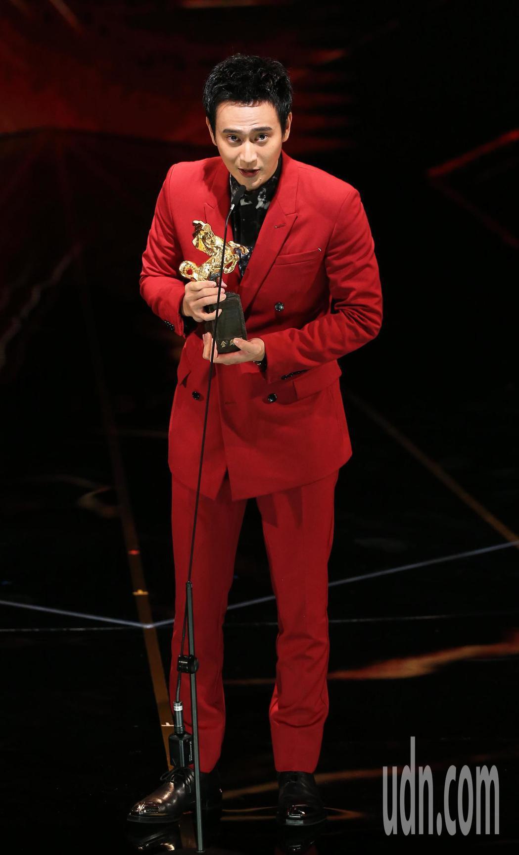 第56屆金馬獎頒獎典禮,劉冠廷獲最佳男配角獎。記者林伯東/攝影
