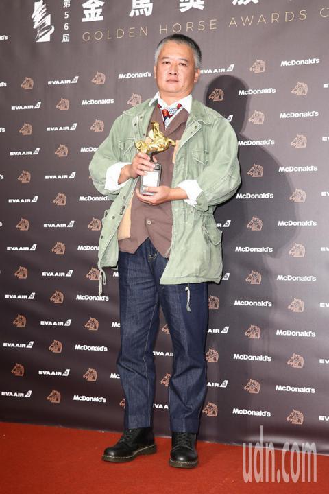 第56屆金馬獎頒獎典禮,年度台灣傑出電影工作者獎得主楊湘竹。