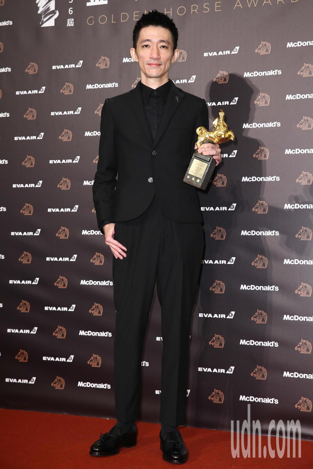 第56屆金馬獎頒獎典禮,「返校」徐漢強獲得最佳新導演。記者曾原信/攝影
