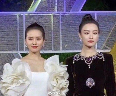 劉詩詩(左)、倪妮黑白同框。圖/摘自微博