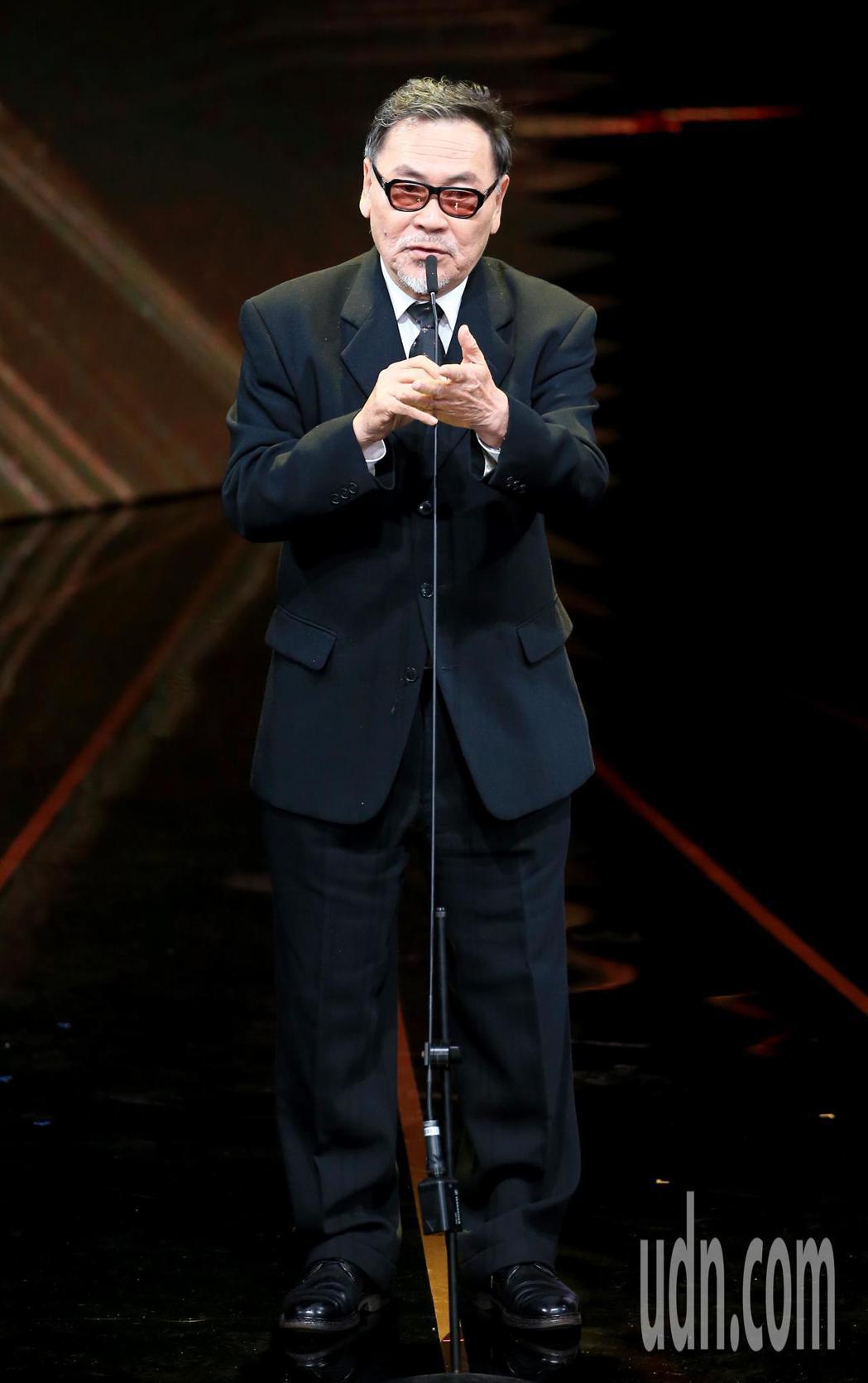 第56屆金馬獎頒獎典禮,王童獲頒終身成就獎。記者林伯東/攝影