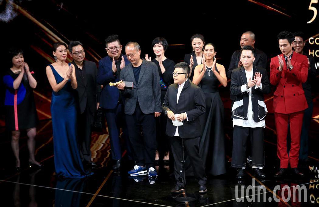 第56屆金馬獎頒獎典禮,陽光普照獲頒最佳劇情長片獎。記者林伯東/攝影