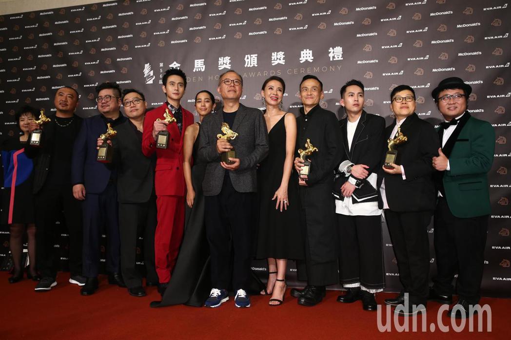 第56屆金馬獎頒獎典禮,陽光普照獲頒最佳劇情長片獎。記者曾原信/攝影