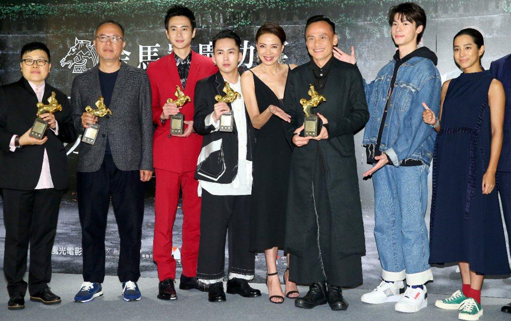 第56屆金馬獎最大贏家《陽光普照》劇組慶功。 記者余承翰/攝影