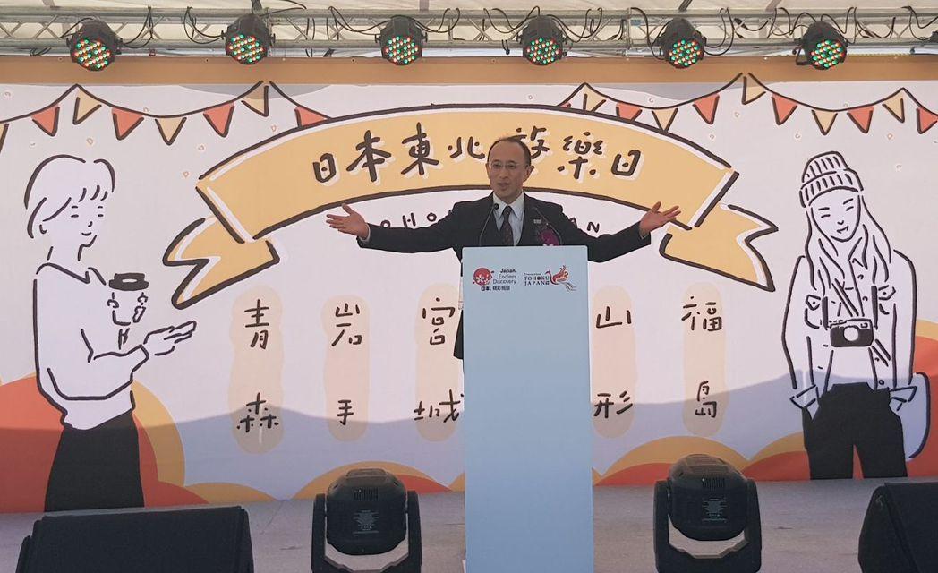 首次來到高雄的日本觀光局理事金子正志風趣幽默的表示,鼓起勇氣吃下台灣特色美食臭豆...