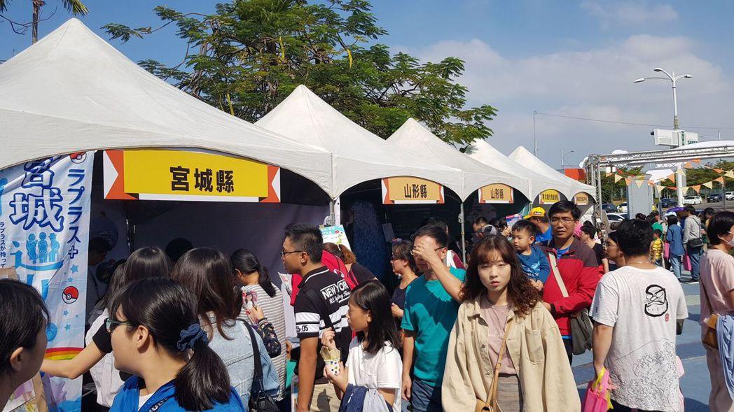 雖然高雄的豔陽高照,但在高雄夢時代1樓廣場的活動舉辦的「日本東北遊樂日2019」...