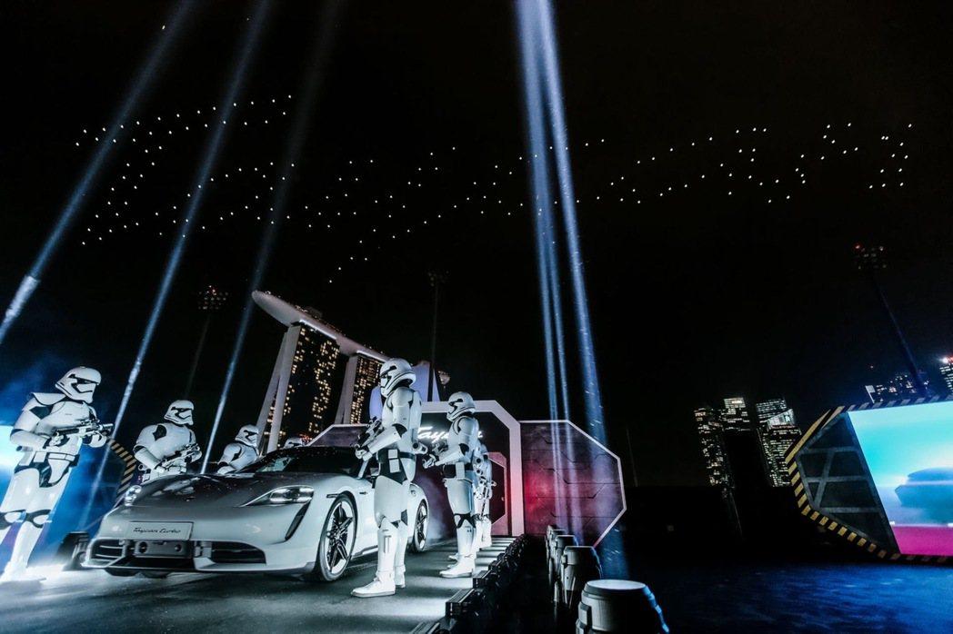 日前Porsche在新加坡舉行全電動跑車Taycan亞太地區首發揭幕儀式。 圖/...