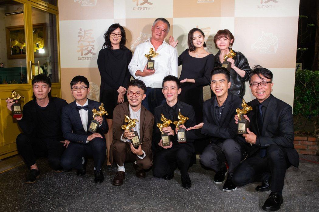 《返校》金馬慶功宴,《返校》在第56屆金馬獎中奪得五項獎項,奪得最佳新導演獎的導...