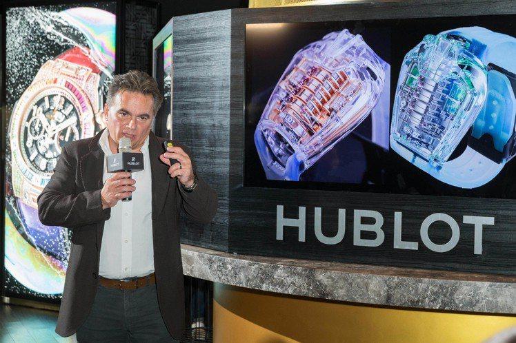 宇舶表品牌研發總監Mathiais Buttet先生來台,分享品牌在珠寶表的發展...