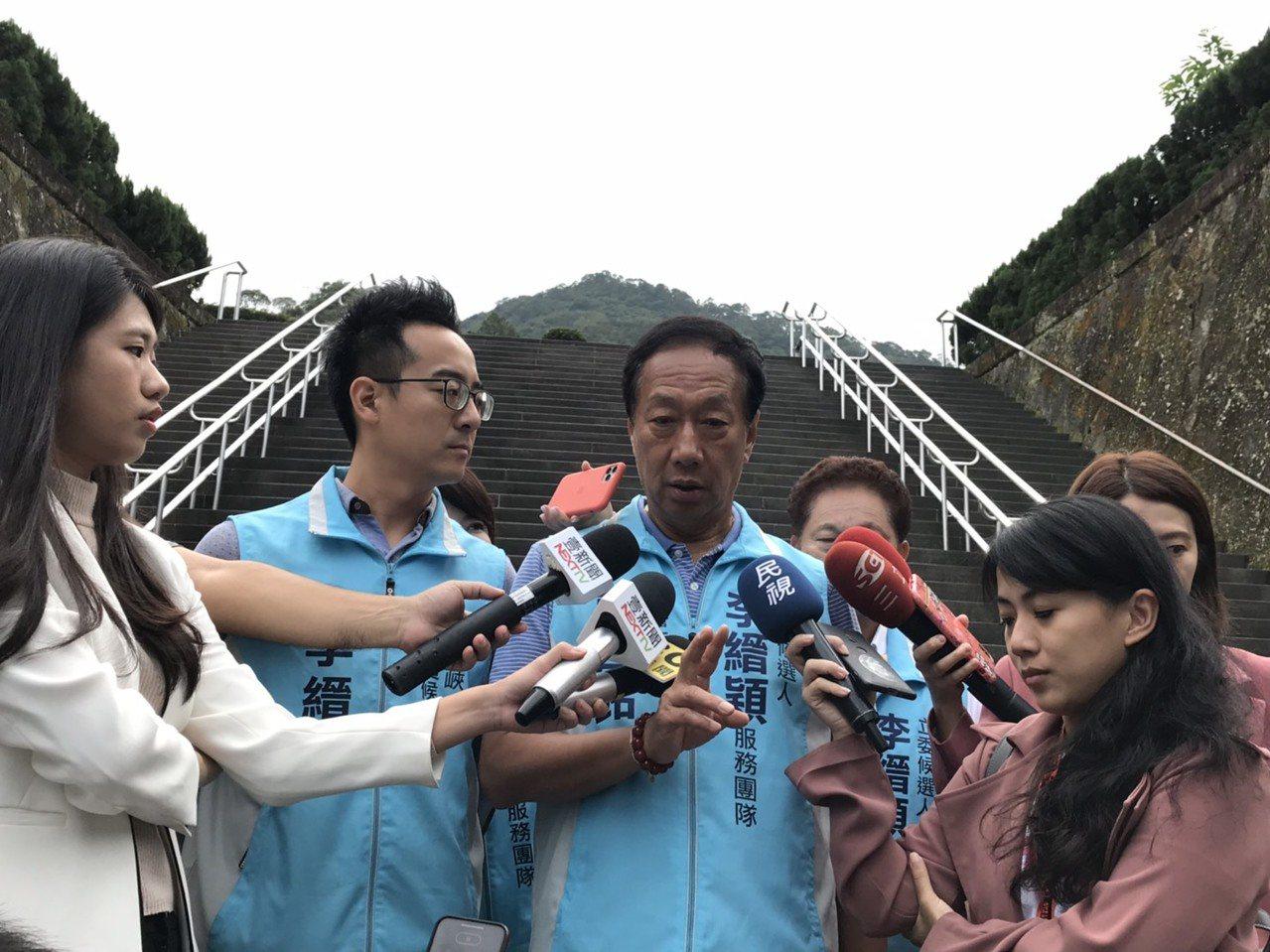 針對共諜叛逃案,郭台銘表示,民進黨跟國民黨都應該重視。記者江婉儀/攝影