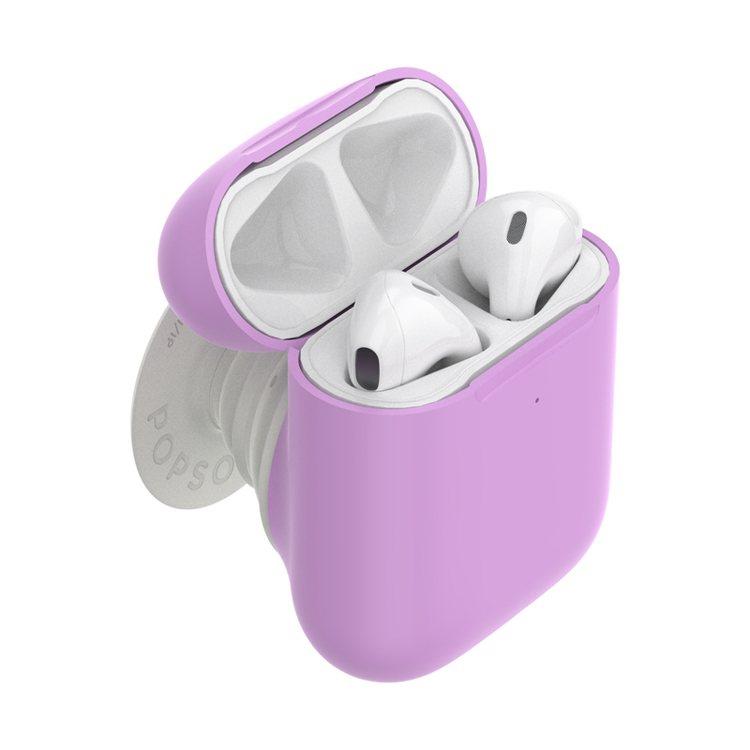 二代PopSockets泡泡騷推出結合AirPods保護殼的新設計。圖/PopS...