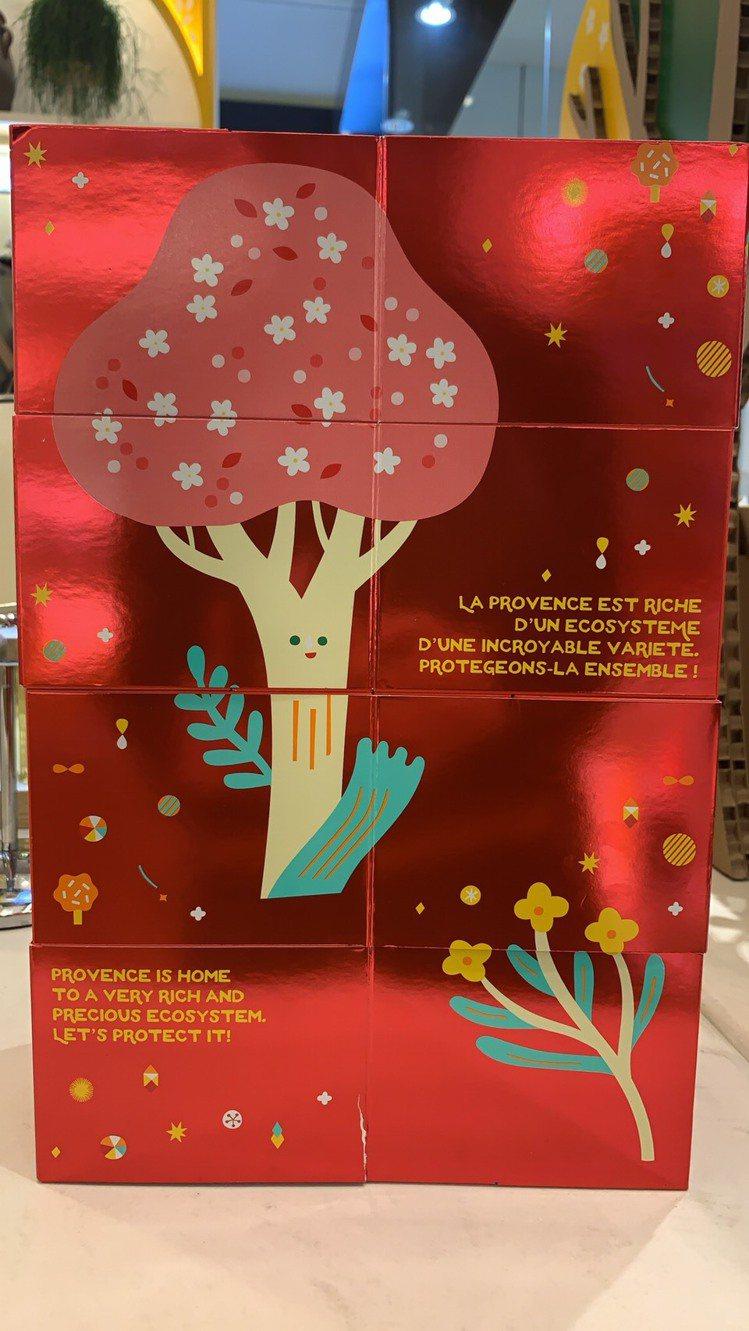 歐舒丹 2019夢想耶誕奢華倒數月曆,由台灣藝術家潘心屏手繪可愛的杏樹,讓這耶誕...