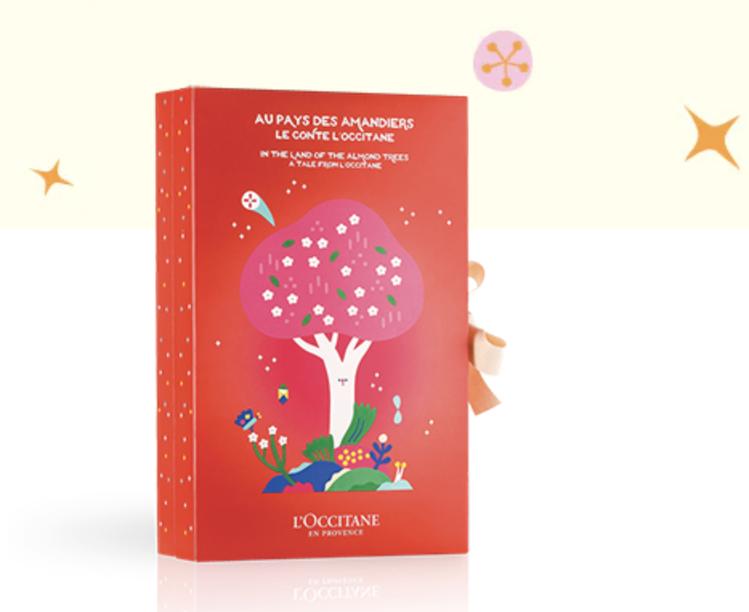 歐舒丹 2019夢想耶誕經典倒數月曆,迷人的紅色包裝,更讓耶誕氣氛加倍。圖/摘自...