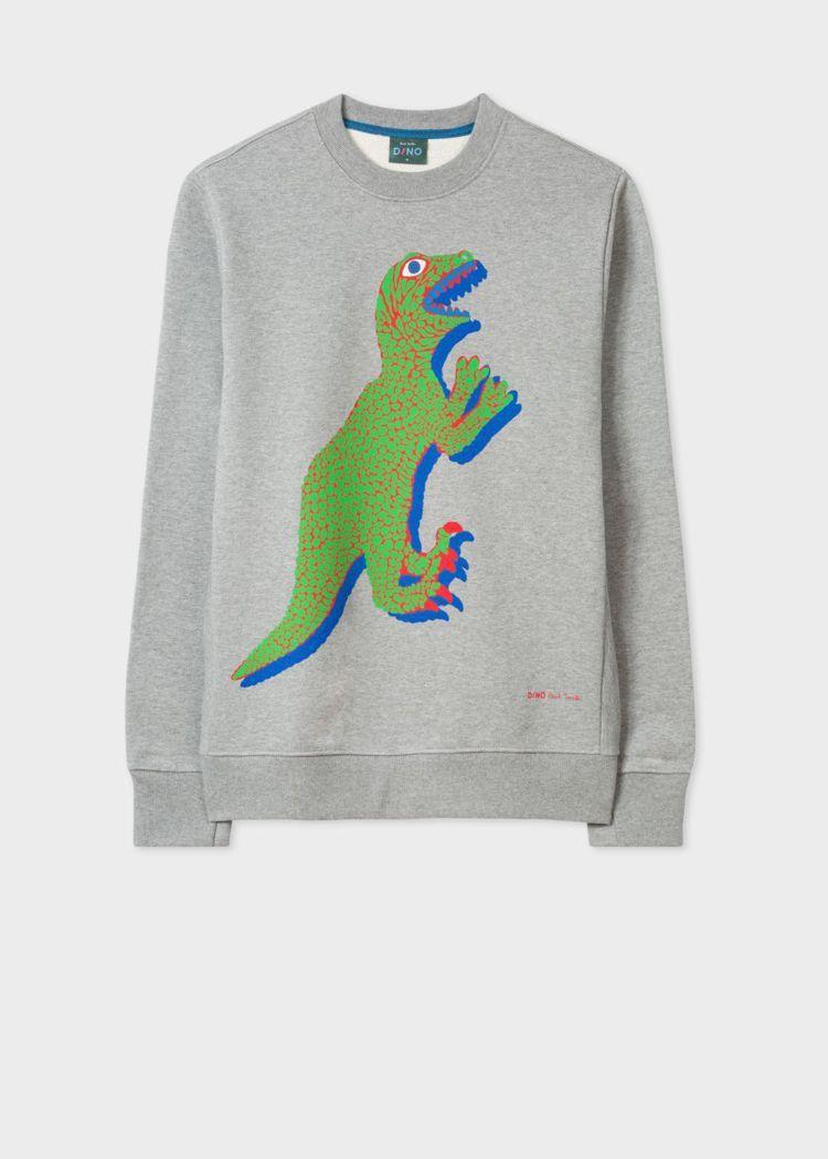 綠色DINO恐龍灰色衛衣,5,800元。圖/Paul Smith提供