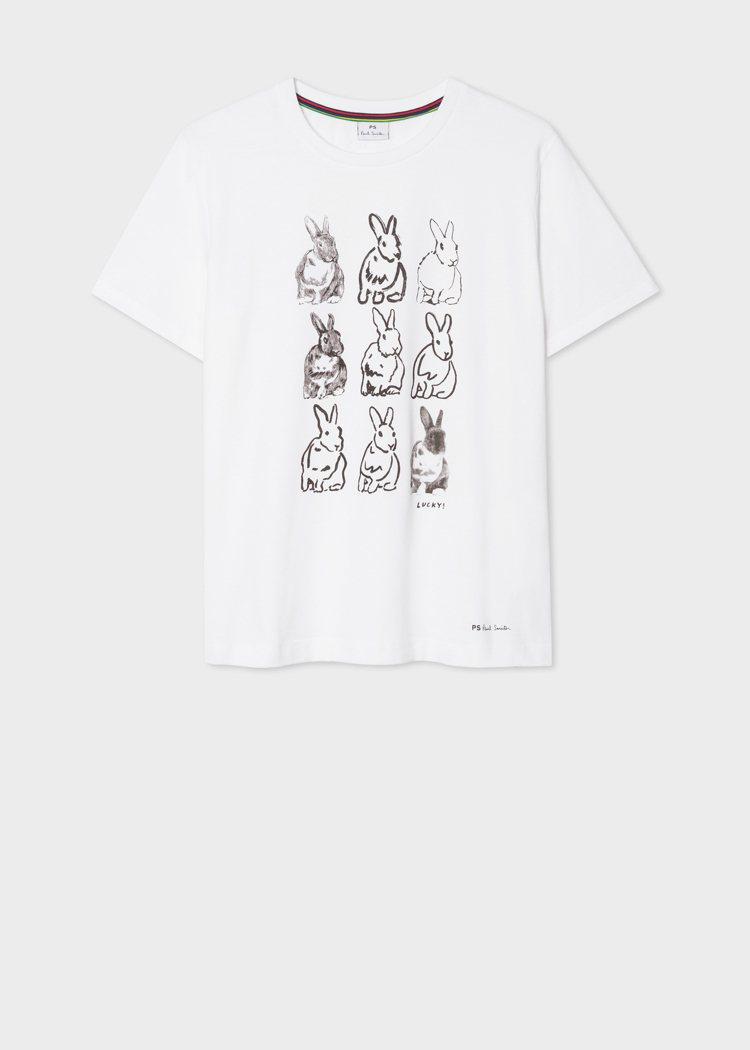 兔子T恤,3,800元。圖/Paul Smith提供