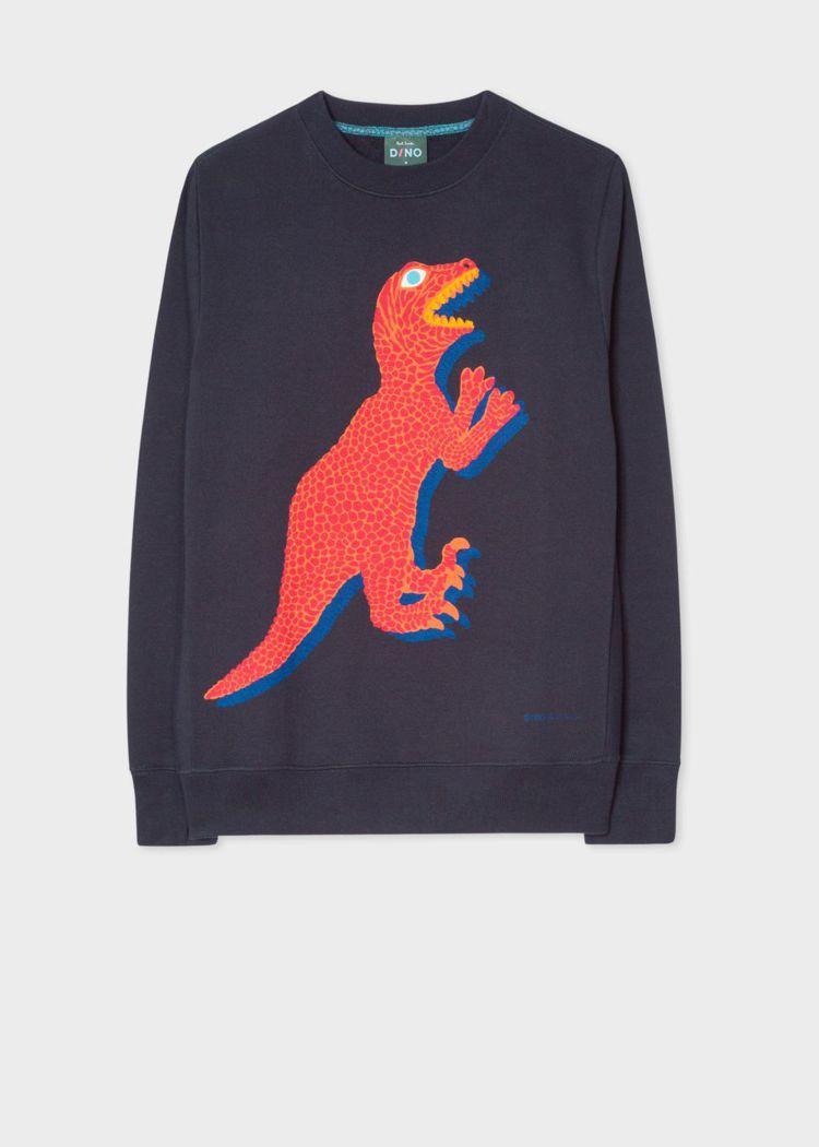 橘色DINO恐龍深藍衛衣,5,800元。圖/Paul Smith提供