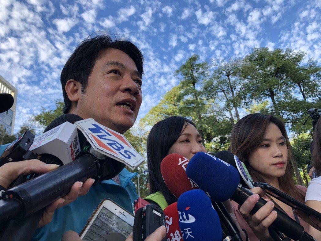 民進黨副總統參選人賴清德。記者賴于榛/攝影