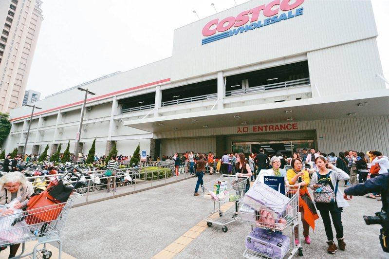 美式賣場好市多在台開設多家分店,每每推出限量商品都會掀起搶購潮。 圖/聯合報系資料照片