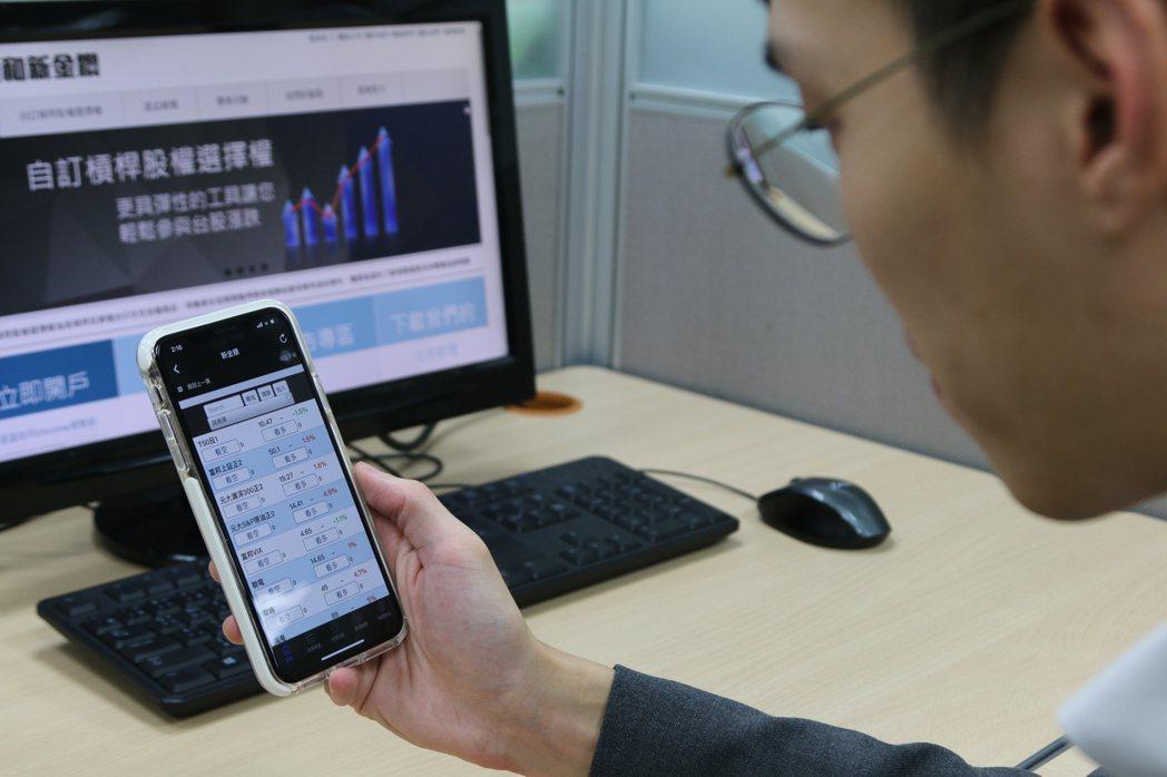投資人可以利用業者推出的App完成槓桿存股,搶先體驗盤中零股交易。 圖/康和證券...