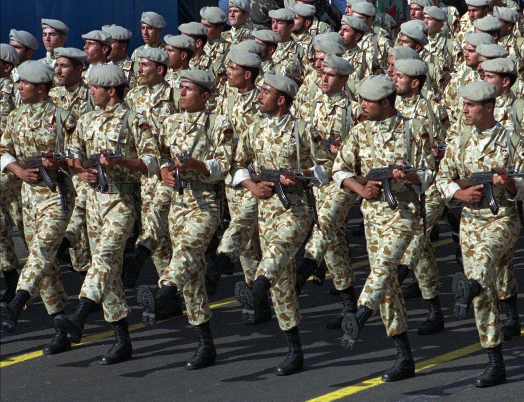伊朗菁英部隊伊斯蘭革命衛隊。(美聯社)