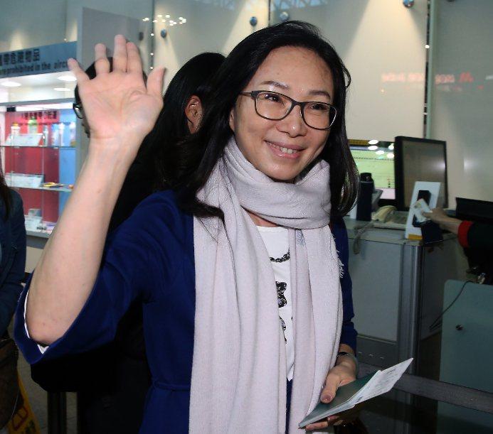 韓國瑜的夫人李佳芬。記者陳嘉寧/攝影
