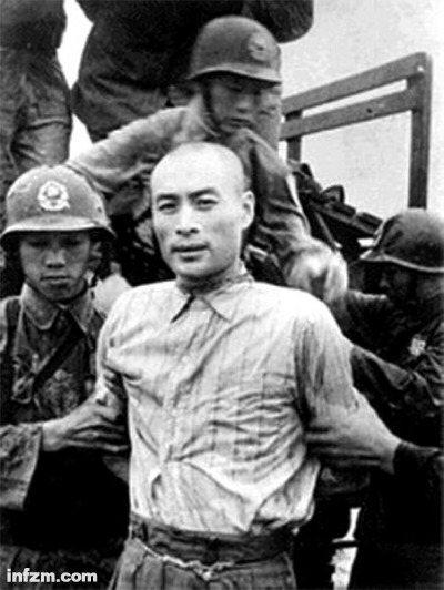 1950年6月10日,吳石等共諜被處決,此為同案共犯聶曦的照片。(取材自南方周末...