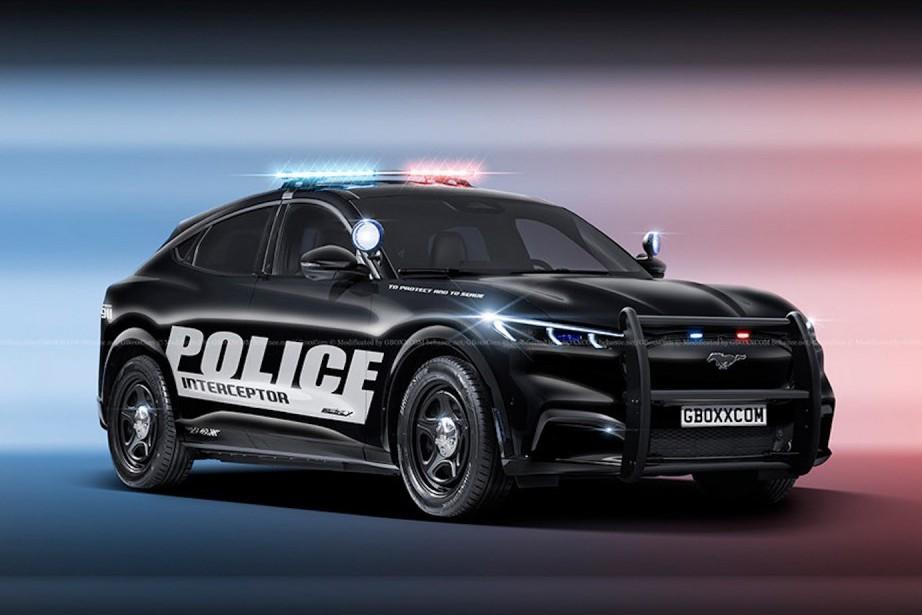 Ford Mustang Mach-E已經夠拉風了 換上警車外衣更是超帥!