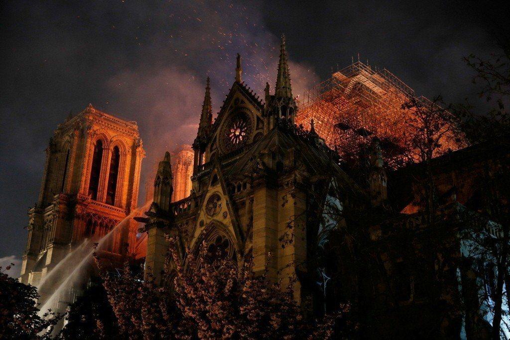 法國巴黎聖母院今年4月慘遭祝融。 圖/路透社