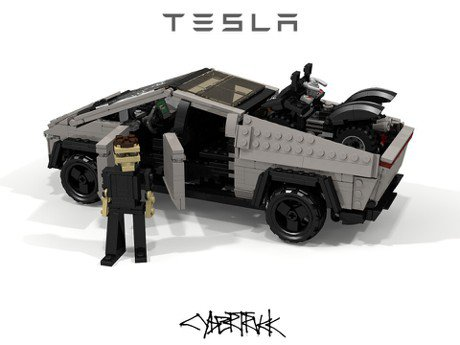 樂高:Tesla Cybertruck的造型我也會做!我的玻璃還不會破呢
