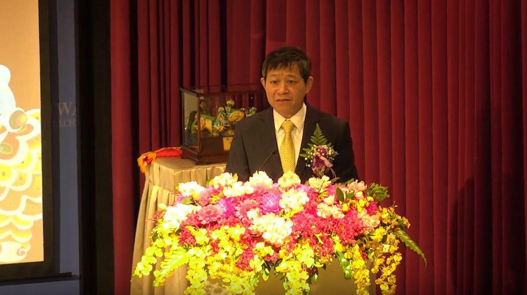 旭暉應材董事長趙勤孝今天出席上市典禮。圖/截自Youtube