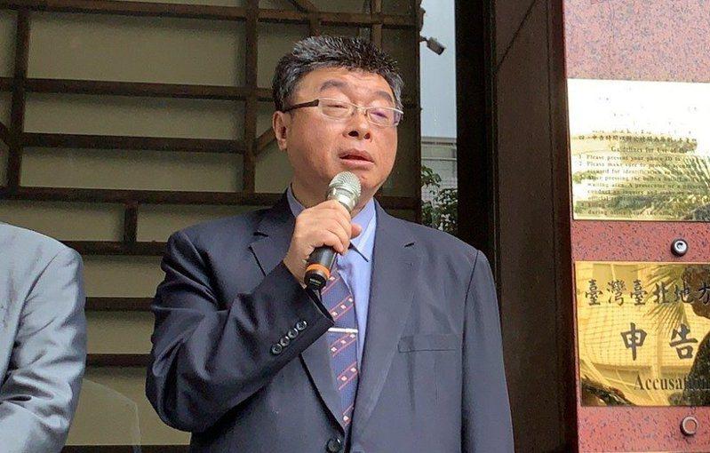 新黨不分區立委被提名人邱毅。記者賴佩璇/攝影