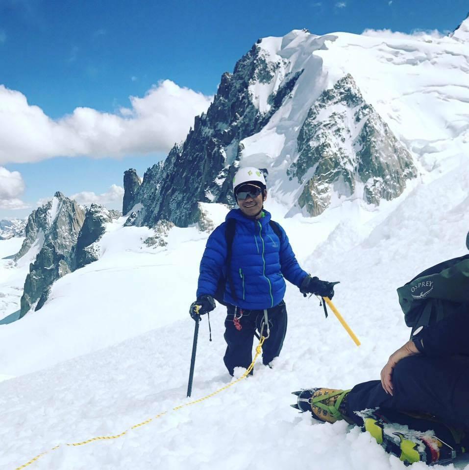 雙腳膝上截肢的馬加爾預計明年春天挑戰登聖母峰。取自Hari Budha Maga...