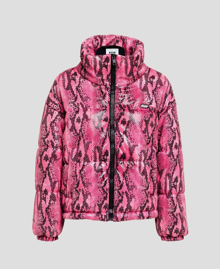 蛇紋印花外套,32,800元。圖/MSGM提供