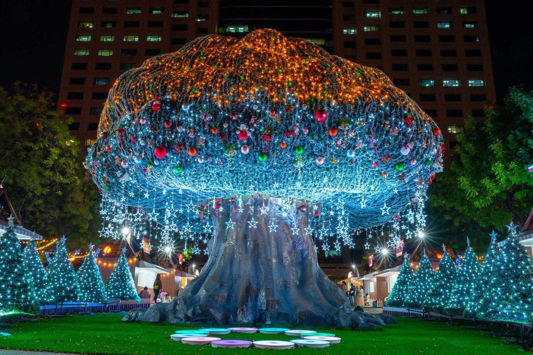 新北魔法森林最浪漫的裝置藝術「森林沐浴」。圖/新北市政府觀光旅遊局提供