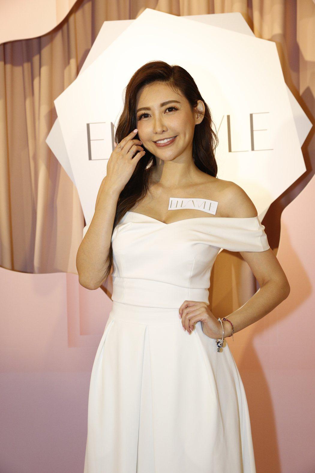 愷樂辣露北半球出席美妝代言活動。圖/ENSWLE璦絲兒提供