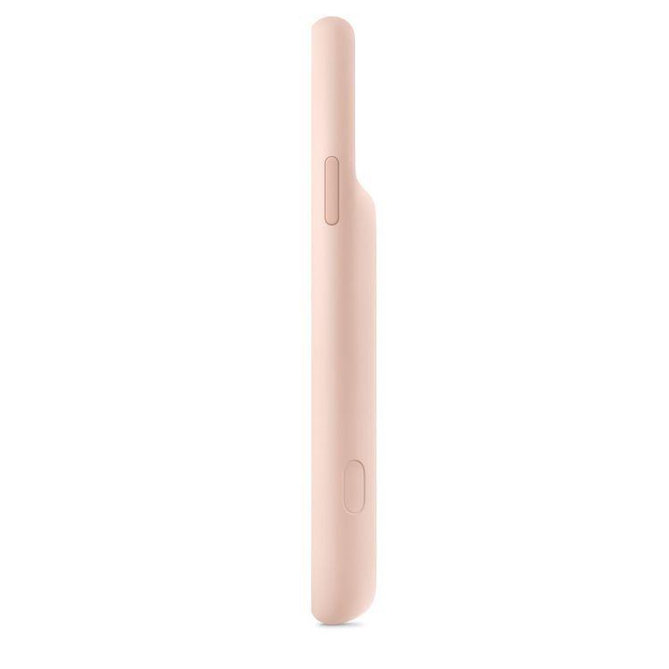 iPhone 11系列聰穎電池護殼側邊多了專用的相機按鈕。圖/摘自蘋果官網