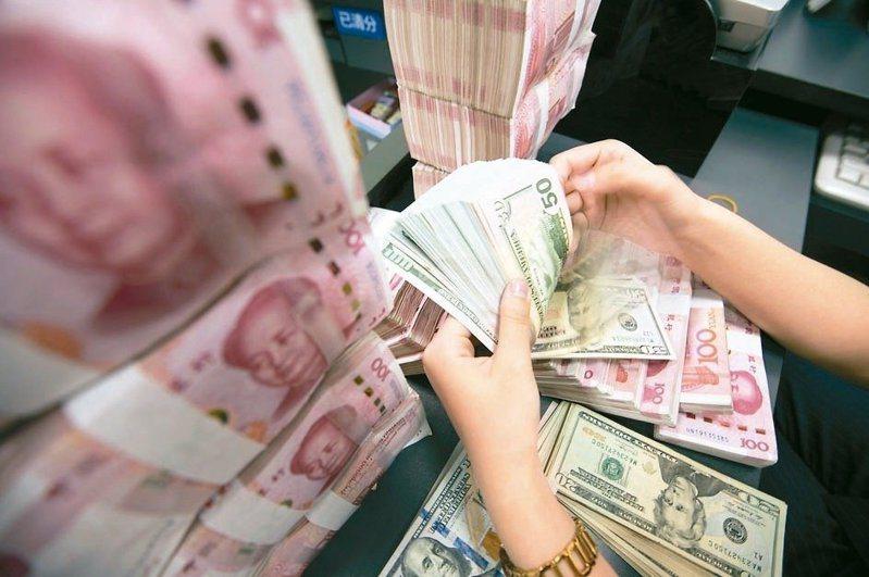 中美貿易戰懸而未決,為人民幣匯率製造貶值壓力。四連跌。(歐新社)