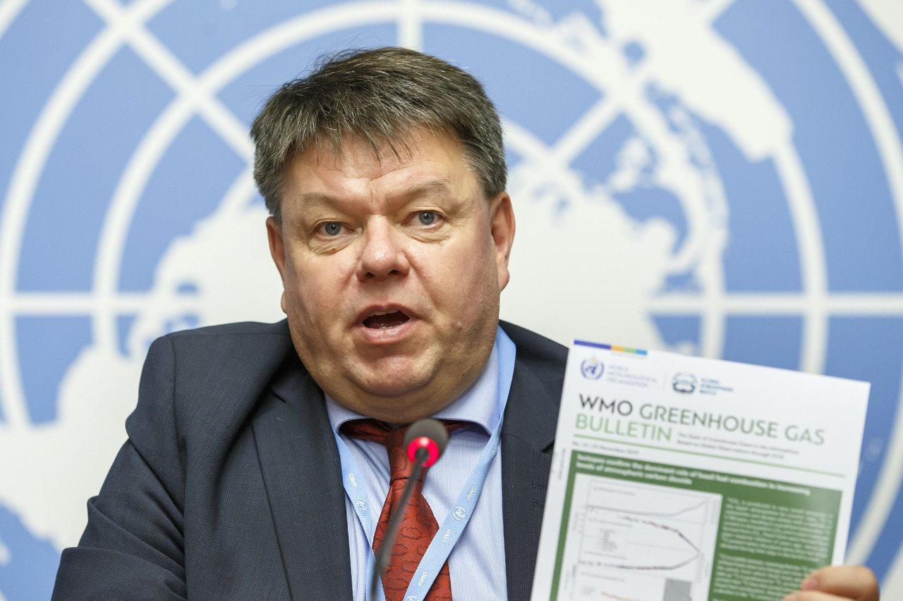 世界氣象組織秘書長塔拉斯。美聯社