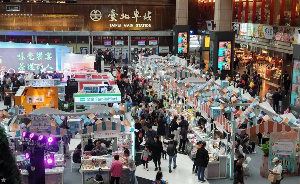 「行動支付感恩季」智慧市集區展出盛況。  中華軟協/提供