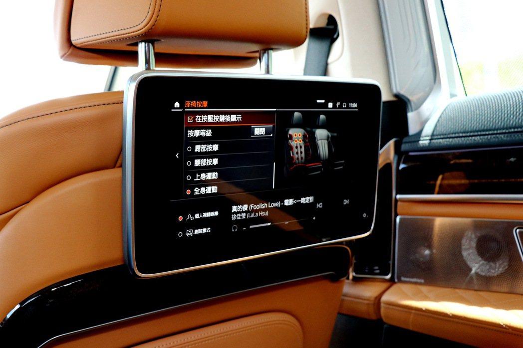 後座娛樂系統則包含兩個10吋觸控式顯示器。 記者陳威任/攝影
